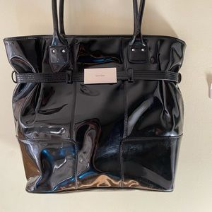 Black purse with minor scratches